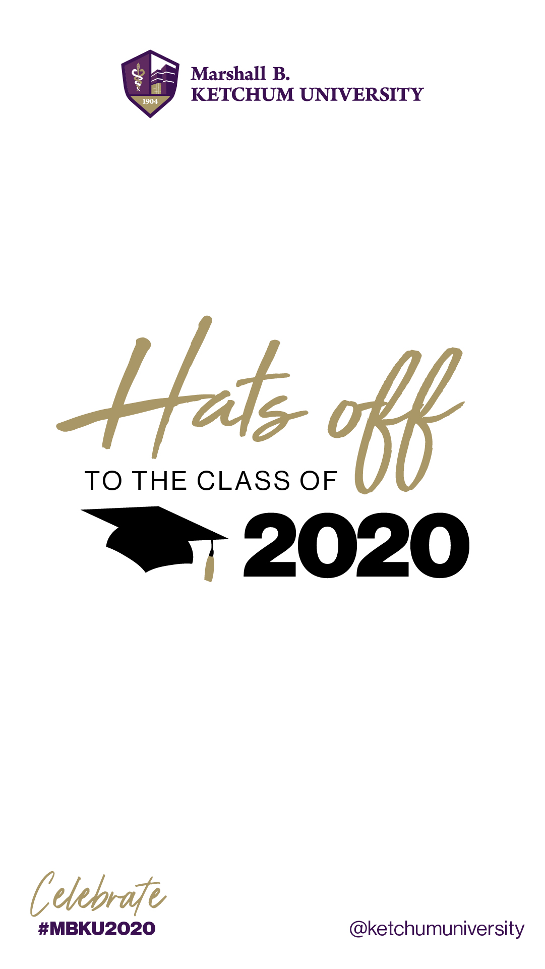 Hats off to the class of 2020 Instagram Story Template