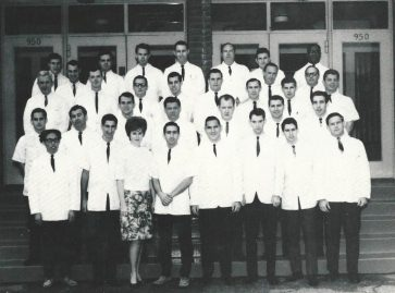 Old photo of Los Angeles College of Optometry Class of 1966