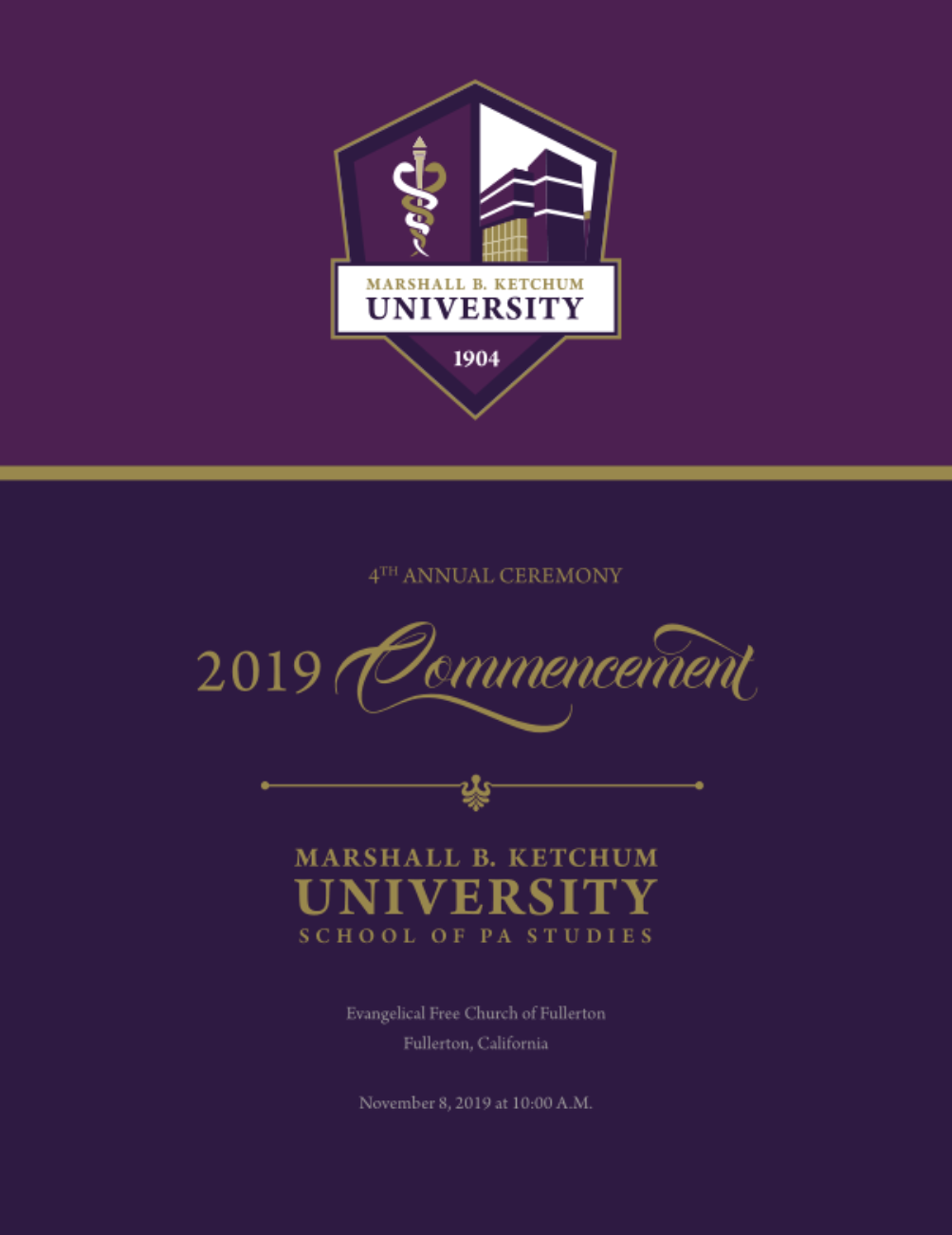 MBKU's 2019 School of PA Studies Commencement Program