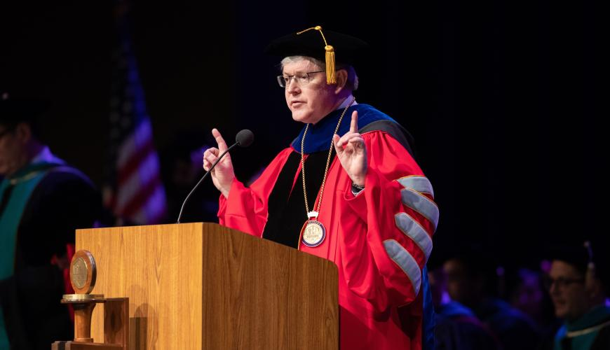 President Alexander speaks at the SCCO Class of 2018 Commencement Ceremony